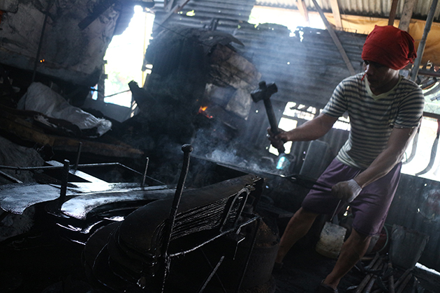 Blacksmith shop in Maa, Davao City.