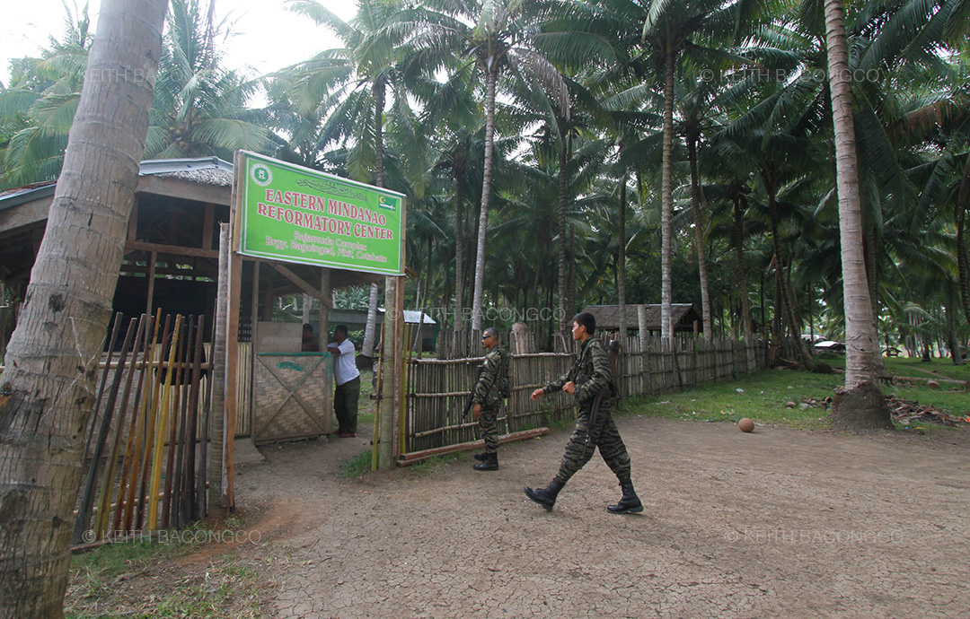 The MILF's Reformatory Center inside the Camp Rajamuda in Pikit, North Cotabato. (Keith Bacongco)