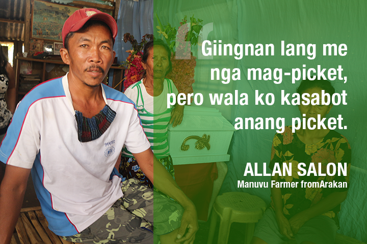 "Arakan farmer: ""I didn't know we are going to a rally"""